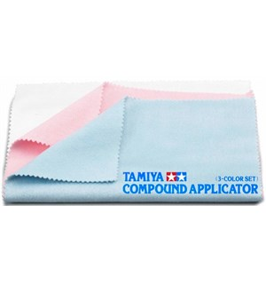 Tamiya Compound Applicator - 3 Color Set Spesial Poleringskluter - uten sømmer