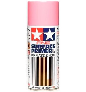Tamiya Fine Surface Primer L Pink 180ml Spray Can Plastic/Metal