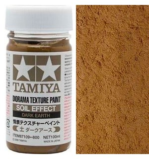Tamiya Texture Paint - Dark Earth 100ml Soil Effect