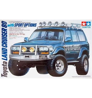 Toyota Land Cruiser 80 w/ Sport Options Tamiya 1:24 Byggesett