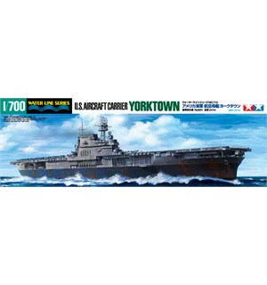 US Aircraft Carrier Yorktown Tamiya 1:700 Byggesett