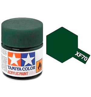 Akrylmaling MINI XF-70 Dark Green 2 Tamiya 81770 - 10ml