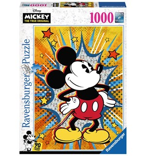 Retro Mickey Mouse 1000 biter Puslespil Ravensburger Puzzle