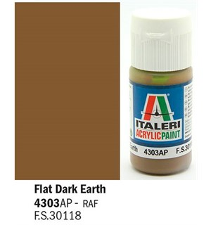 Akrylmaling Flat Dark Earth Italeri 4303AP - 20 ml