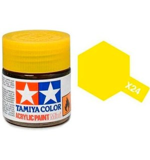 Akrylmaling MINI X-24 Clear Yellow Tamiya 81524 - 10ml