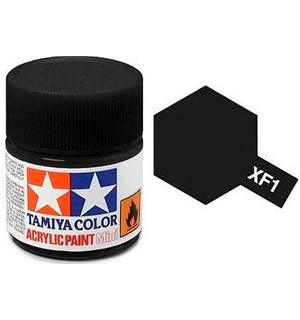 Akrylmaling MINI XF-1 Flat Black Tamiya 81701 - 10ml