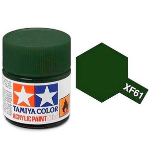 Akrylmaling MINI XF-61 Dark Green Tamiya 81761 - 10ml