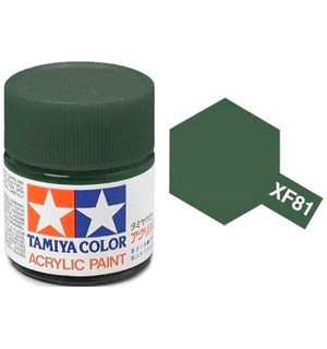 Akrylmaling MINI XF-81 Dark Green 2 RAF Tamiya 81781 - 10ml