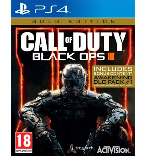 Call of Duty Black Ops 3 Gold Ed PS4 Gold Edition med Awakenings DLC