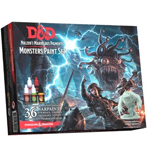 D&D Army Painter Monsters Paint Set 36 malinger Nolzur's Marvelous Pigments