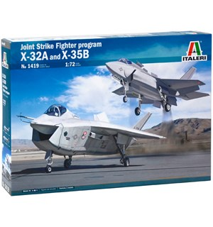 Joint Strike Fighter Program X-32A/X-35B Italeri 1:72 Byggesett