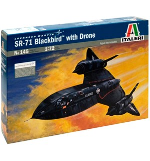 Lockheed SR-71 Blackbird with Drone Italeri 1:72 Byggesett