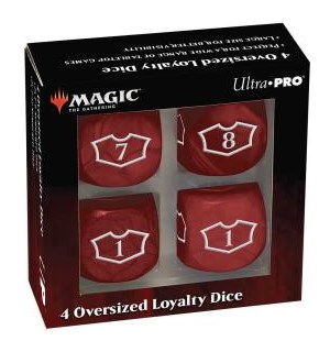 Magic Loyalty Dice 4 D6 Dice Set - Red