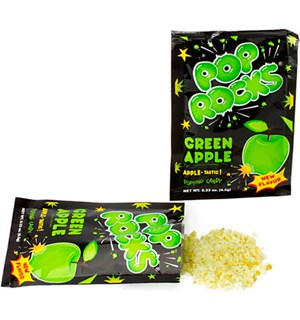 Pop Rocks med Eplesmak Green Apple Det originale bruspulveret!