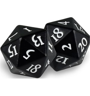 RPG Dice D20 Heavy Metal Svart