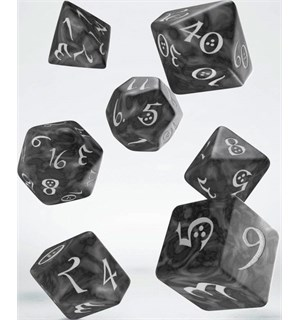 RPG Dice Set Smokey 7 stk Terninger til rollespill 7 stk