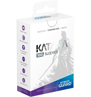 Sleeves Katana Hvit 100 stk 66x91 Ultimate Guard Kortbeskytter/DeckProtect