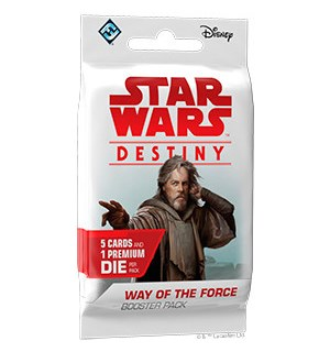 Star Wars Destiny Way of the Force Boost Booster 5 tilfeldige kort + 1 terning