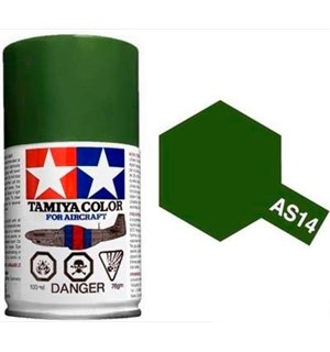 Tamiya Airspray AS-14 Olive Green Tamiya 86514 - 100ml