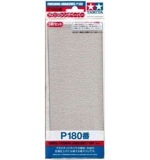 Tamiya Finishing Abrasives P180 - 3 stk