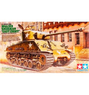 US Medium Tank M4A3E8 Sherman Easy Eight Tamiya 1:35 Byggesett