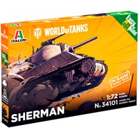 World of Tanks Sherman - Easy to Build Italeri 1:72 Byggesett - Krever ikke lim