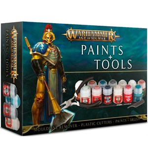 Age of Sigmar Paints + Tools Mouldline Remover/Cutter/Paint/Brush