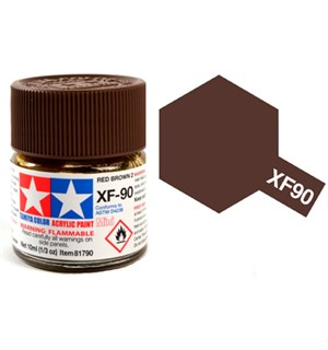 Akrylmaling MINI XF-90 Red Brown 2 Tamiya 81790 - 10ml