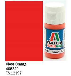 Akrylmaling Gloss Orange 4682 AP Italeri 4682AP - 20 ml