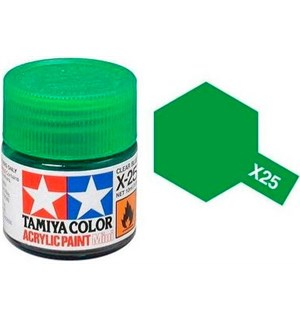 Akrylmaling MINI X-25 Clear Green Tamiya 81525 - 10ml
