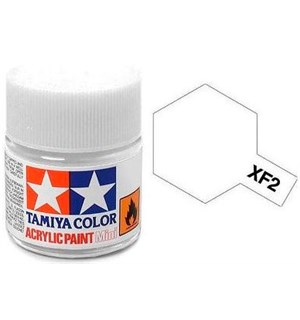 Akrylmaling MINI XF-2 Flat White Matt Tamiya 81702 - 10ml