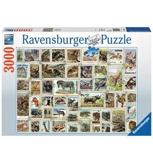 Animal Stamps 3000 biter Puslespill Ravensburger Puzzle