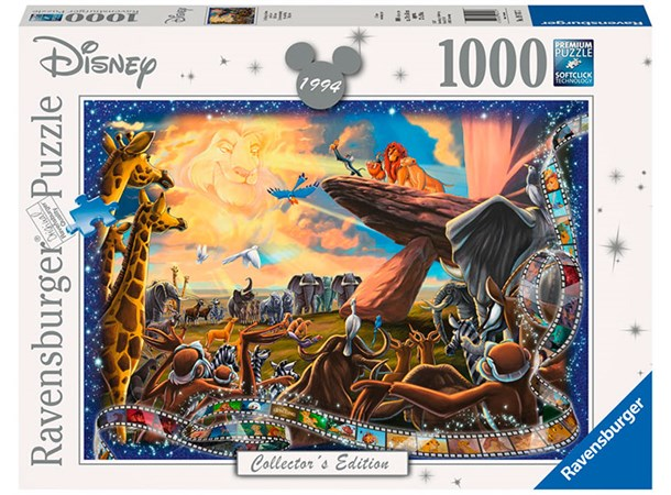 Nytt Disney Lion King 1000 biter Puslespill Ravensburger Puzzle GA-37