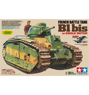 French Battle Tank B1 bis (m/ 1 motor) Tamiya 1:35 Byggesett