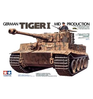 German Tiger I Mid Production Tamiya 1:35 Byggesett