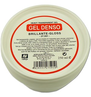Heavy Transparent Gel Gloss 250ml GEL DENSO Vallejo