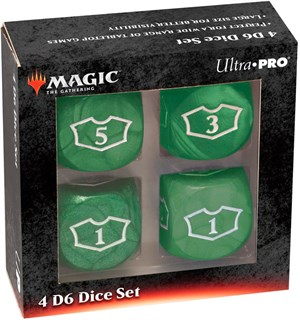 Magic Loyalty Dice 4 D6 Dice Set - Green