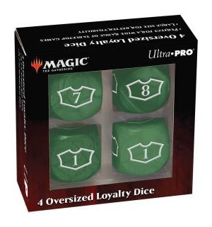Magic Loyalty Dice 4 D6 Dice Set Green