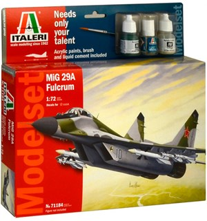 MiG 29A Fulcrum Start Set - Komplett Italeri 1:72 Byggesett