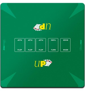 Poker Playmat/Spillmatte 60x60 cm Ultra Pro - For Texas Hold'Em/Omaha