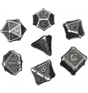 RPG Dice Set Metal Mythical Terninger til rollespill - 7 stk