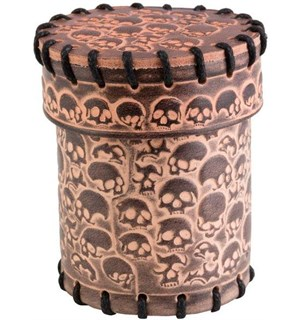 RPG Dice Terningkopp Skull Dice Beige Skull Leather Dice Cup