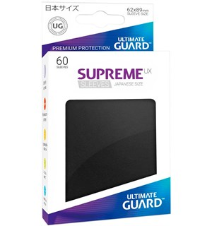 Sleeves UX Japansk Sort 60 stk 62x89 mm Ultimate Guard Kortbeskytter/DeckProtect