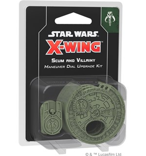 Star Wars X-Wing Scum Dial Upgrade Scum&Villainy Maneuvre Dial Upgrade Kit