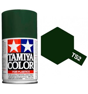 Tamiya Airspray TS-2 Dark Green Tamiya 85002 - 100ml