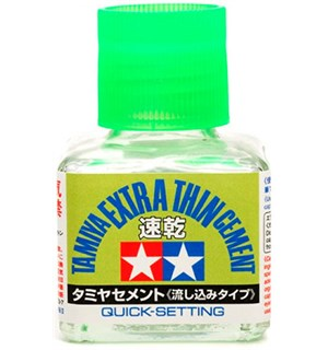 Tamiya Extra-Thin Cement QUICK SET 40ml Quick Setting