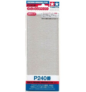 Tamiya Finishing Abrasives P240 - 3 stk