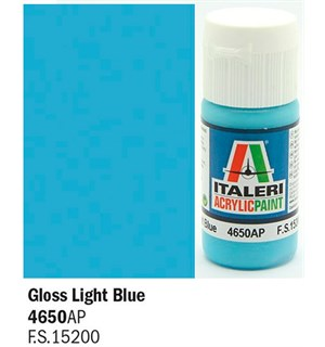 Akrylmaling Gloss Light Blue Italeri 4650AP - 20 ml