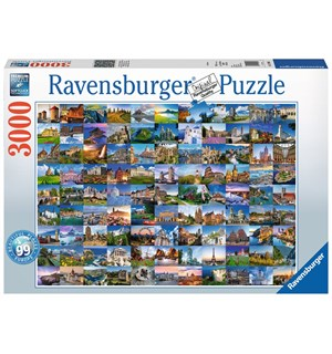 99 Beautiful Places in Europe 3000 biter Ravensburger Puzzle Puslespill