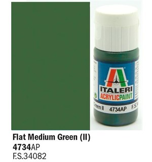 Akrylmaling Flat Medium Green II Italeri 4734AP - 20 ml